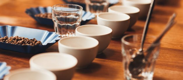 Coffee Cupping | A coffee cupping setup can be adapted for cold brew