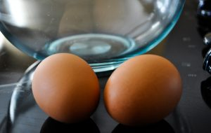 image of two eggs and a bowl