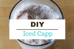 image of iced cappucino with text diy iced capp
