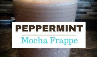 glass of peppermint mocha frappe